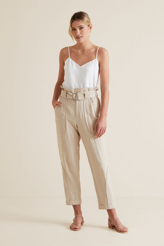 High Waist D-Ring Pant  SAND DUNE  hi-res