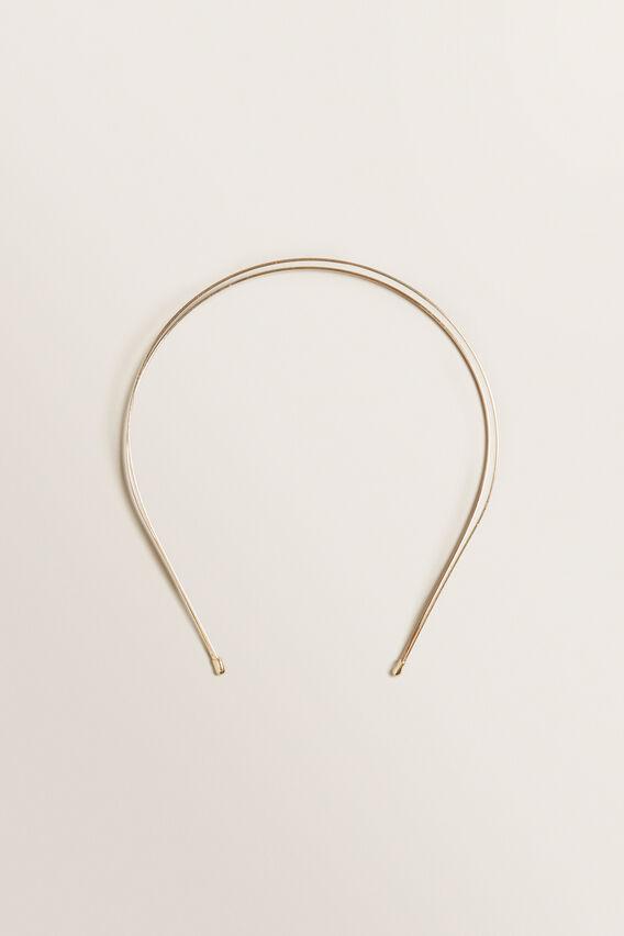 Gold Twin Metal Headband  GOLD  hi-res