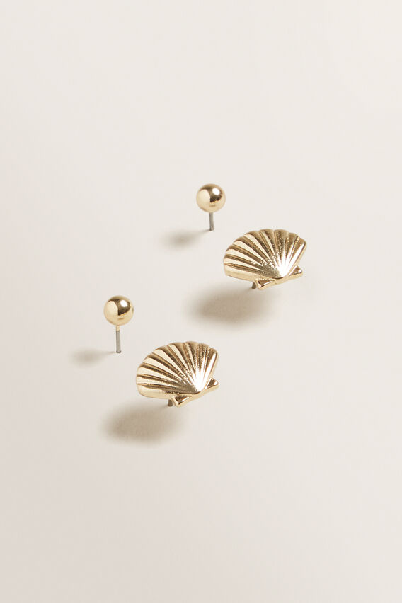 Shell Stud Pack  GOLD  hi-res