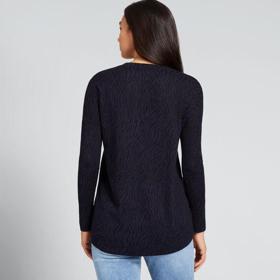 Animal Print Sweater  NAUTICAL BLUE ANIMAL  hi-res