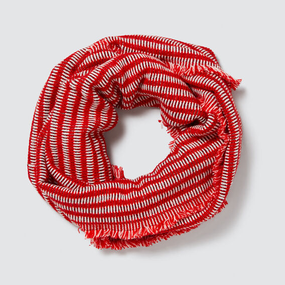 Knit Snood  RED MULTI  hi-res