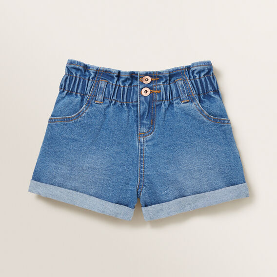 Paperbag Denim Shorts  CLASSIC BLUE  hi-res