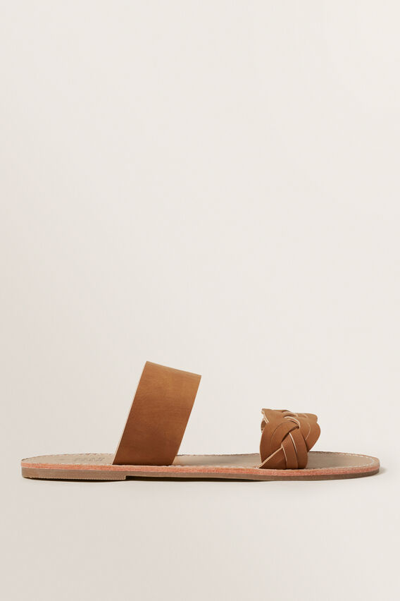 Tan Plait Sandal  TAN  hi-res