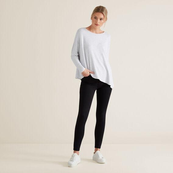 Asymmetrical Sweater  LIGHT GREY MARLE  hi-res