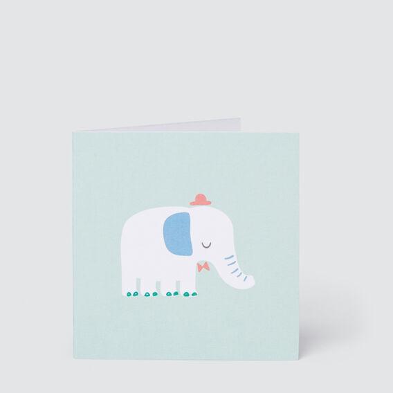 Small Elephant Card  MULTI  hi-res