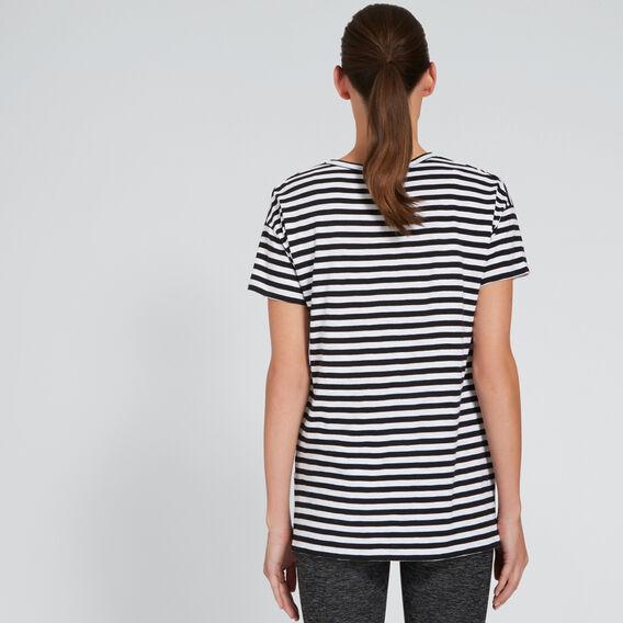 Short Sleeve Split Tee  BLACK STRIPE  hi-res