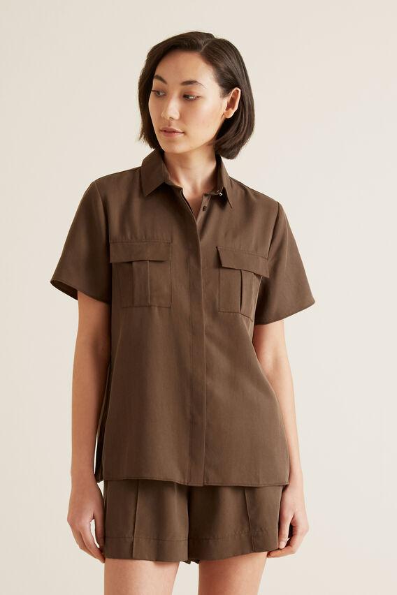 Safari Short Sleeve Shirt  LIGHT CHOCOLATE  hi-res