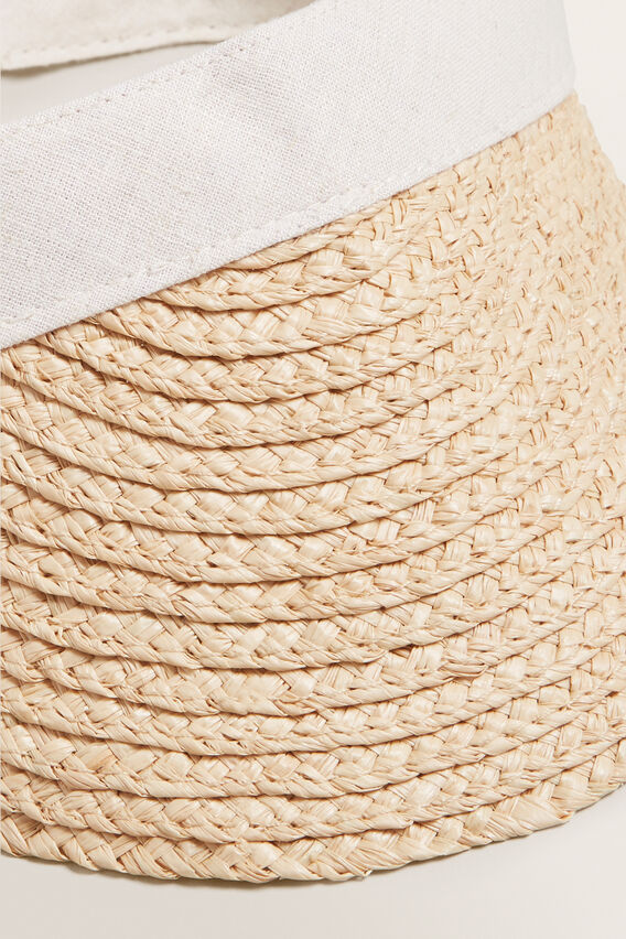 Tie Back Visor  NATURAL/CREAM  hi-res