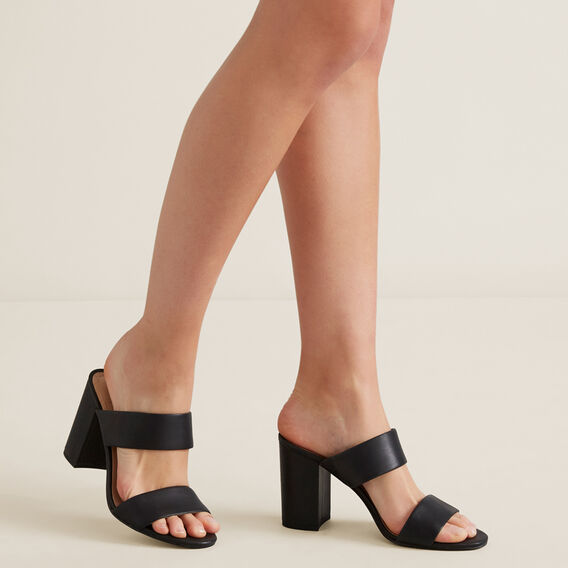 Kim Double Strap Mule  BLACK  hi-res