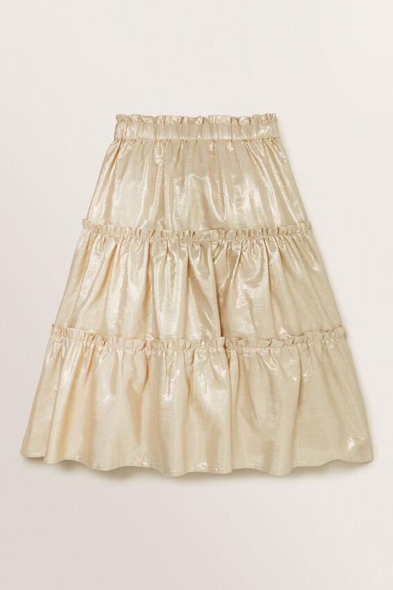 Metallic Skirt  GOLD  hi-res