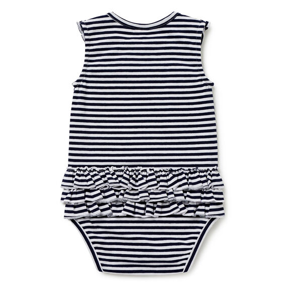 Stripe Bodysuit  NAVY  hi-res