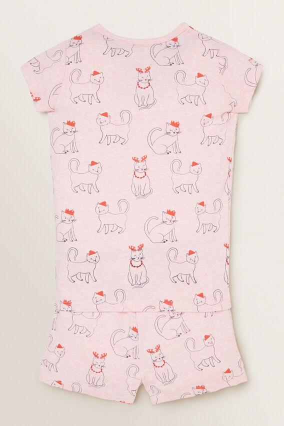 Xmas Short Sleeve Pyjama  ICE PINK MARLE  hi-res
