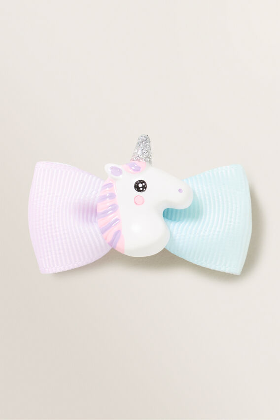 Rainbow Bow Unicorn Duck Clip  RAINBOW  hi-res