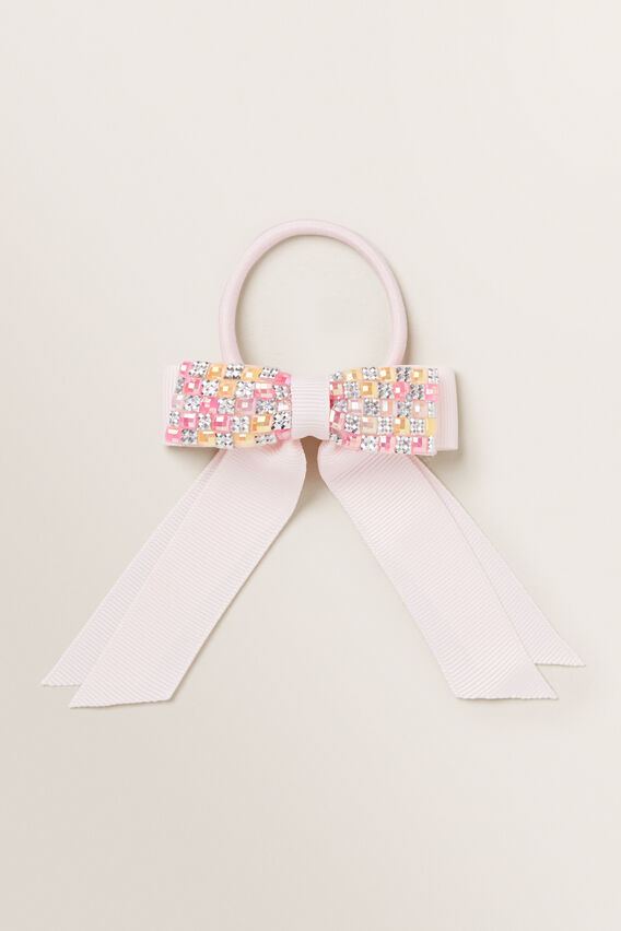 Gem Bow On Elastic  ICE PINK  hi-res