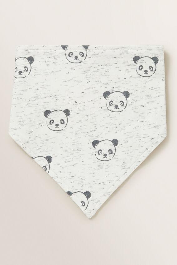 Panda Bandana Bib  CANVAS SPACE DYE  hi-res