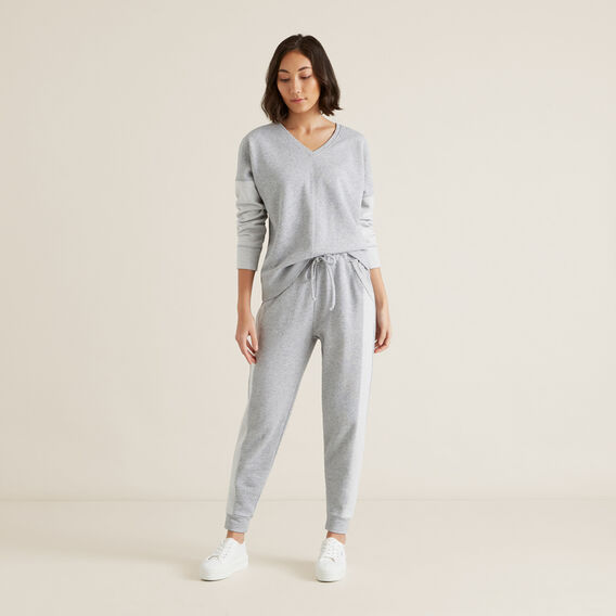 Brushed Terry Trackie  MID GREY MARLE  hi-res