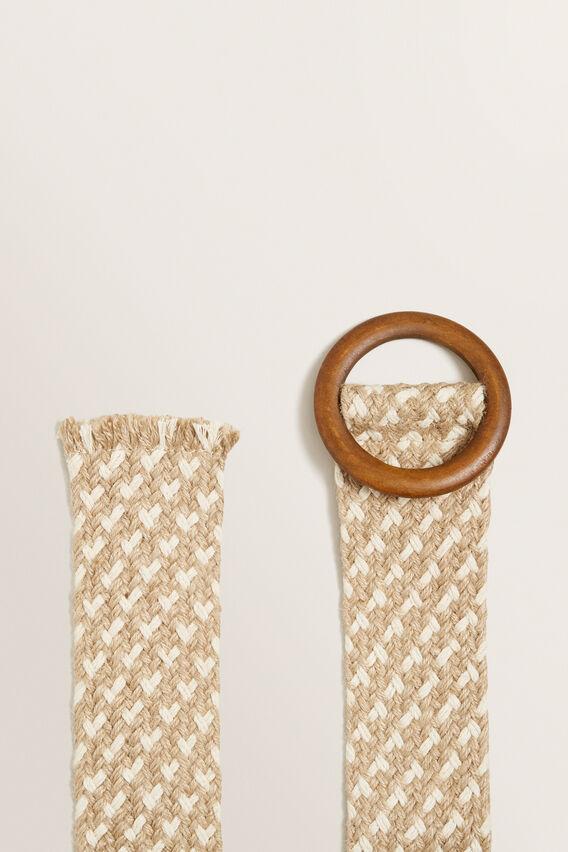 Rope Weave Belt  NATURAL  hi-res
