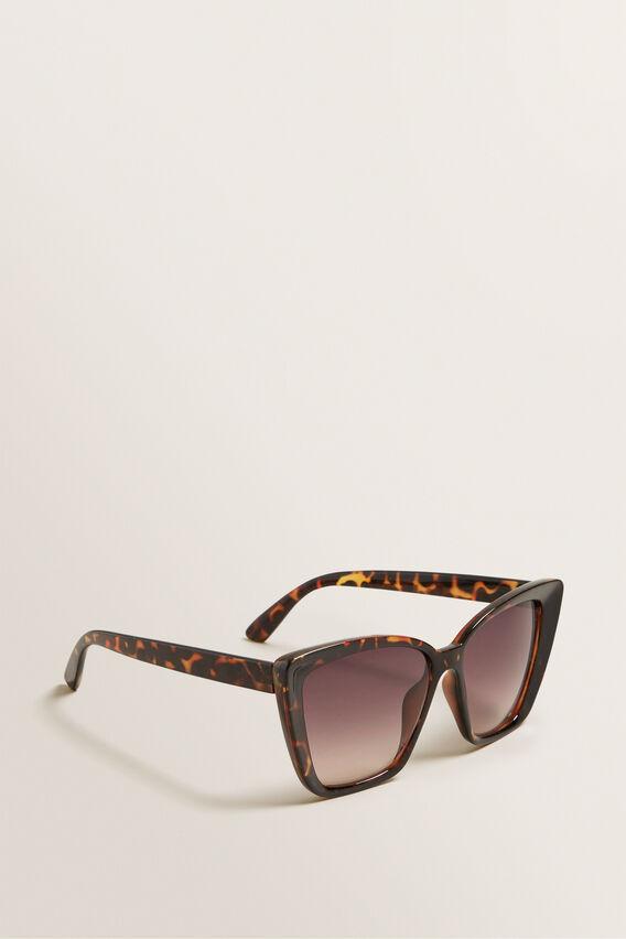 Mia D-Frame Sunglasses  BROWN TORT  hi-res