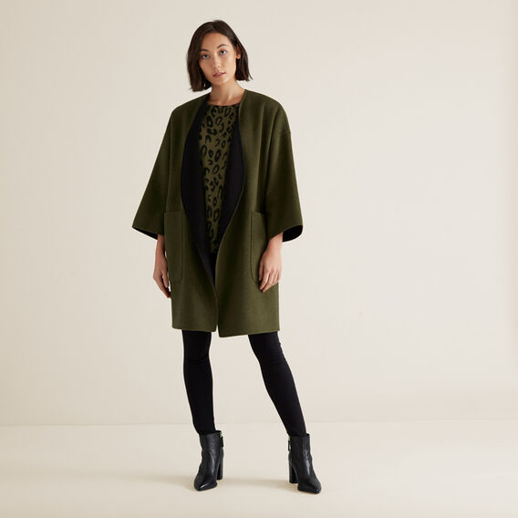 Reversible Coat  RICH OLIVE/BLACK  hi-res