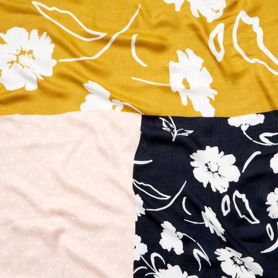 Patchwork Floral Scarf  MULTI  hi-res