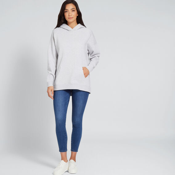 Oversized Hoodie  LIGHT ASH MARLE  hi-res