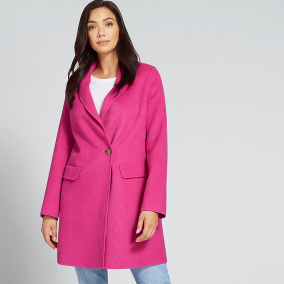Streamline Coat  BOLD FUCHSIA  hi-res