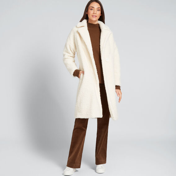 Longline Teddy Coat  FRENCH VANILLA  hi-res
