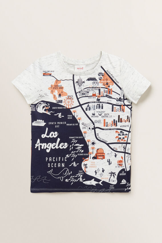 LA Map Tee  VINTAGE WHITE MARLE  hi-res