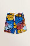 Leaf Yardage Shorts, MIDNIGHT BLUE, hi-res