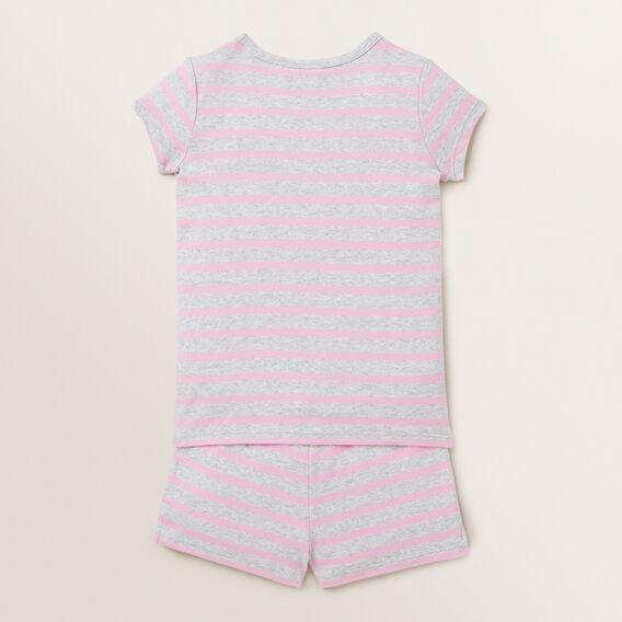 Striped Short Sleeve Pyjamas  CANDY PINK CLOUD  hi-res