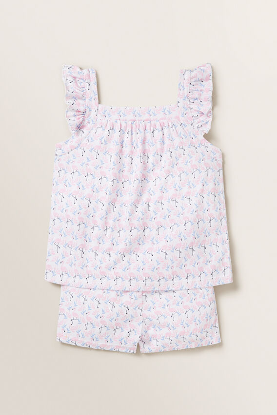 Flamingo Frill Pyjamas  MULTI  hi-res
