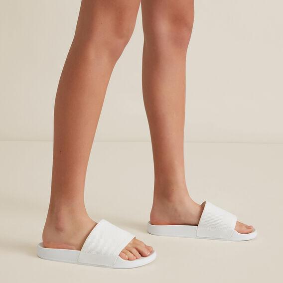 Knitted Slides  WHITE  hi-res