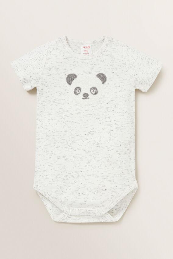 Panda Bodysuit  CANVAS SPACE DYE  hi-res