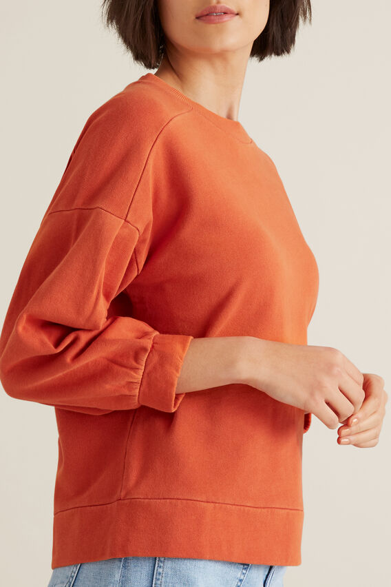 Blouson Sleeve Sweater  SUNBURNT ORANGE  hi-res