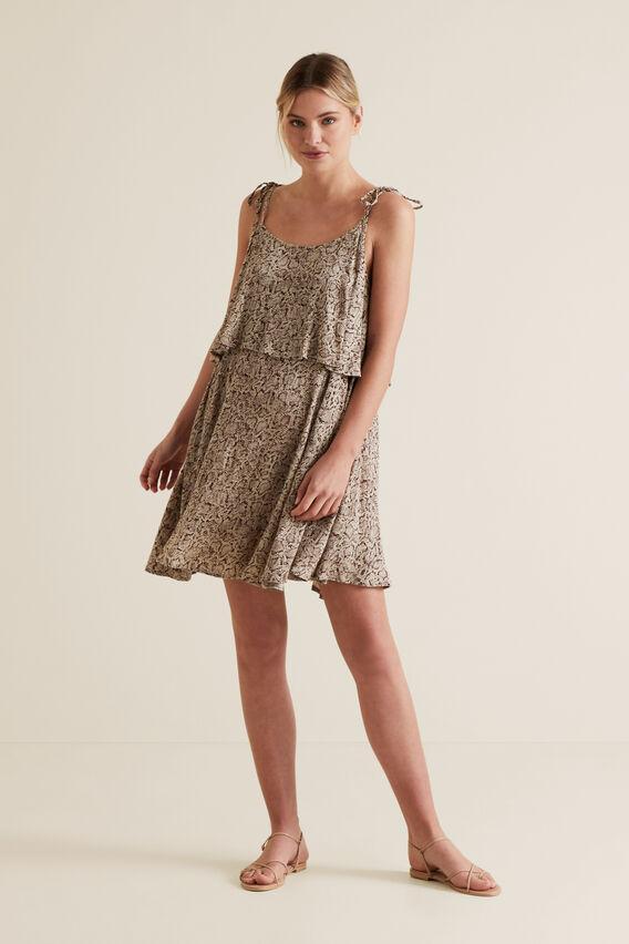 Python Mini Dress  SNAKE PRINT  hi-res