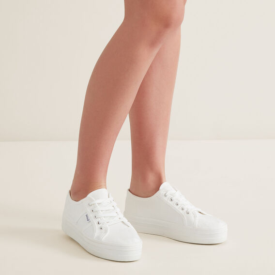 Billie Flatform Sneaker  WHITE  hi-res