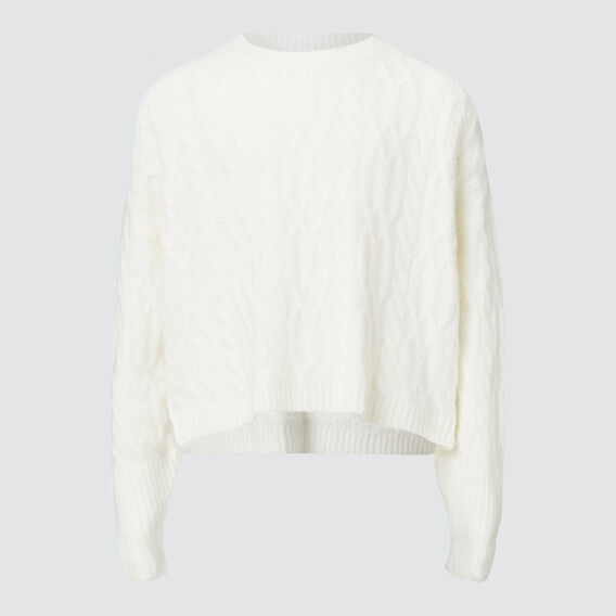 Cable Crop Sweater  CANVAS  hi-res