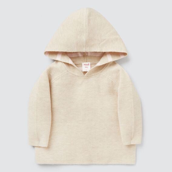 Double Knit Poncho  OAT MARLE  hi-res