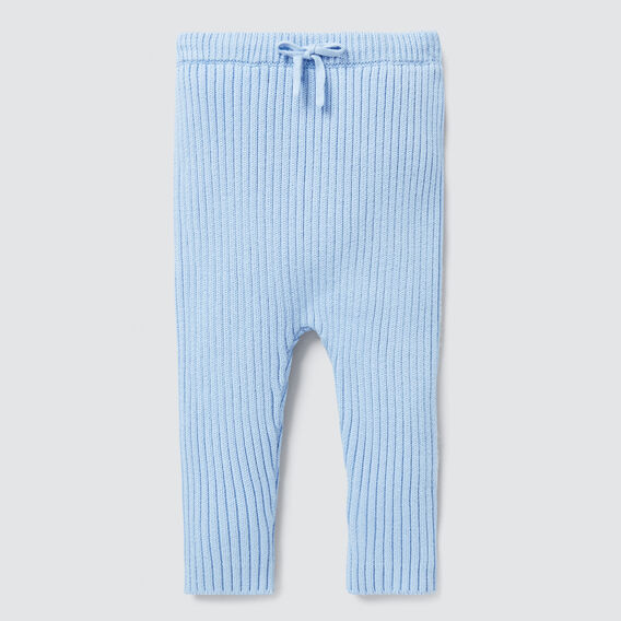 Knitted Rib Pant  DUSK BLUE  hi-res
