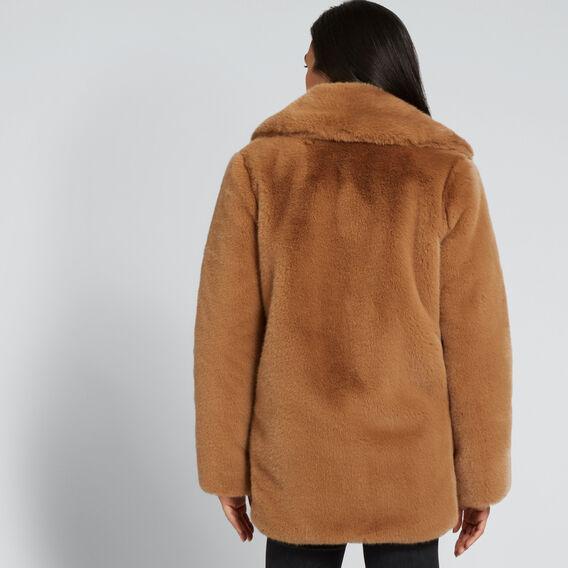 Boxy Fur Coat  GINGERBREAD  hi-res