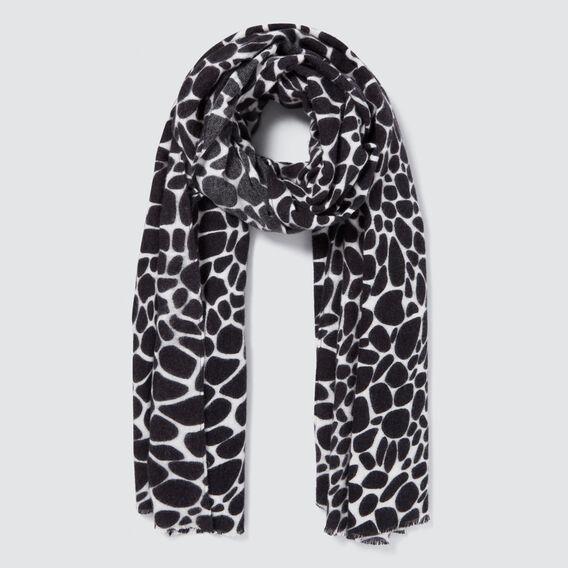 Giraffe Print Scarf  CREAM/BLACK  hi-res