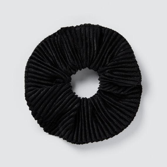 Velvet Rib Scrunchie  BLACK  hi-res