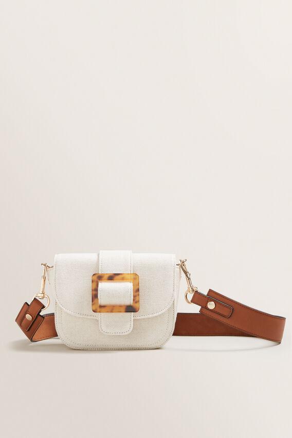 Buckle Cross Body Bag  CANVAS  hi-res
