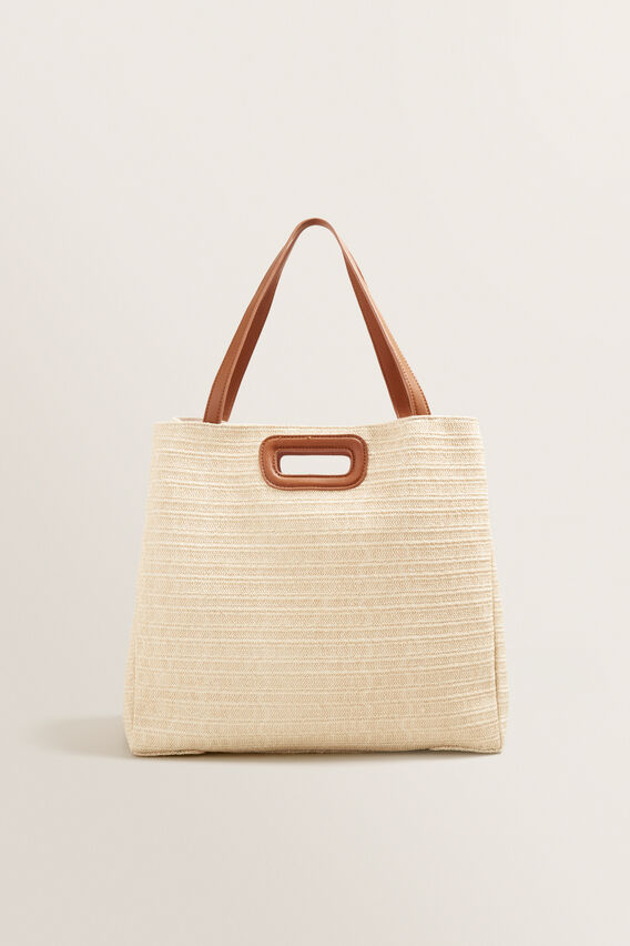 Jules Double Handle Tote  CREAM/ TAN  hi-res