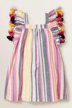 Stripe Tassel Dress, MULTI, hi-res