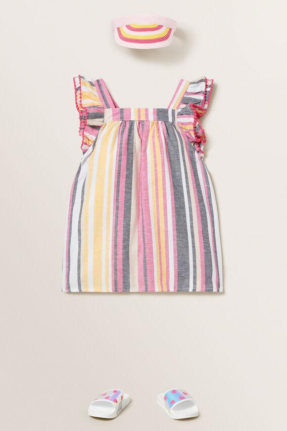 Stripe Tassel Dress  MULTI  hi-res