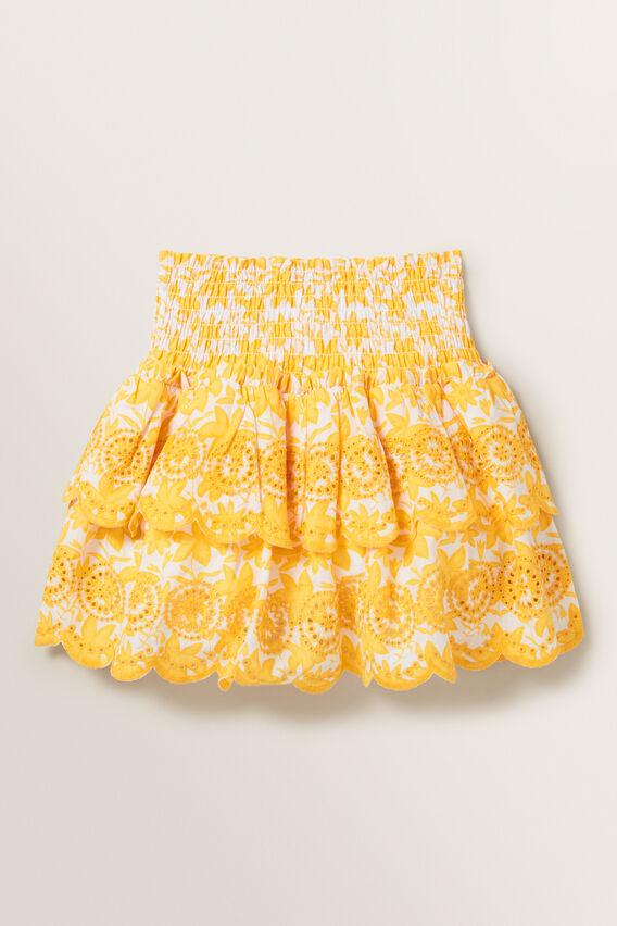 Floral Broderie Skirt  MULTI  hi-res