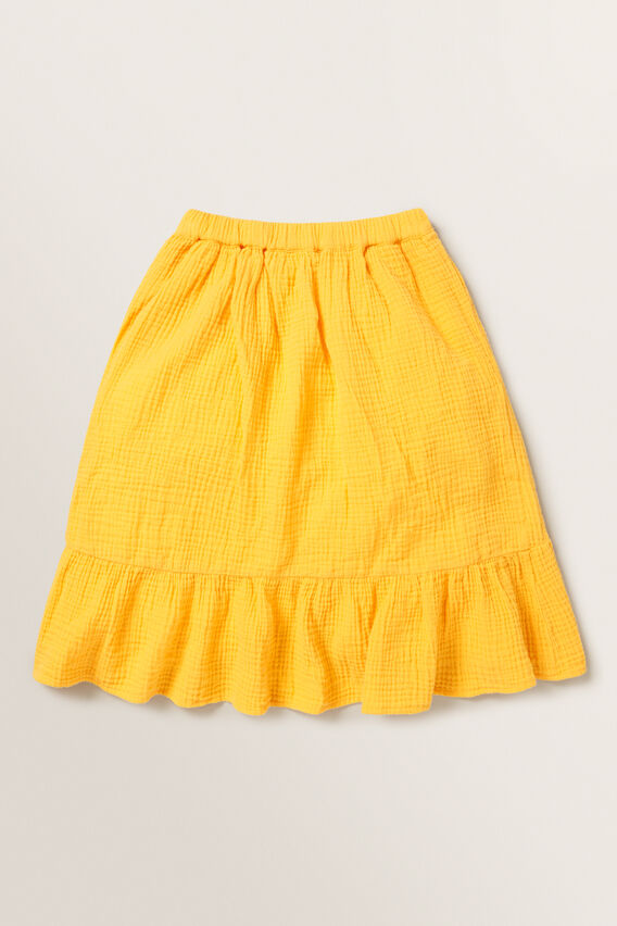 Cheesecloth Wrap Skirt  MARIGOLD  hi-res