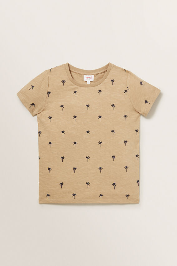 Palm Tree Tee  TAN  hi-res