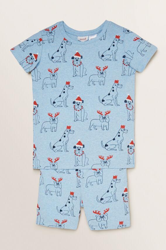 Christmas Dogs Pyjama  SLEEPY BLUE MARLE  hi-res